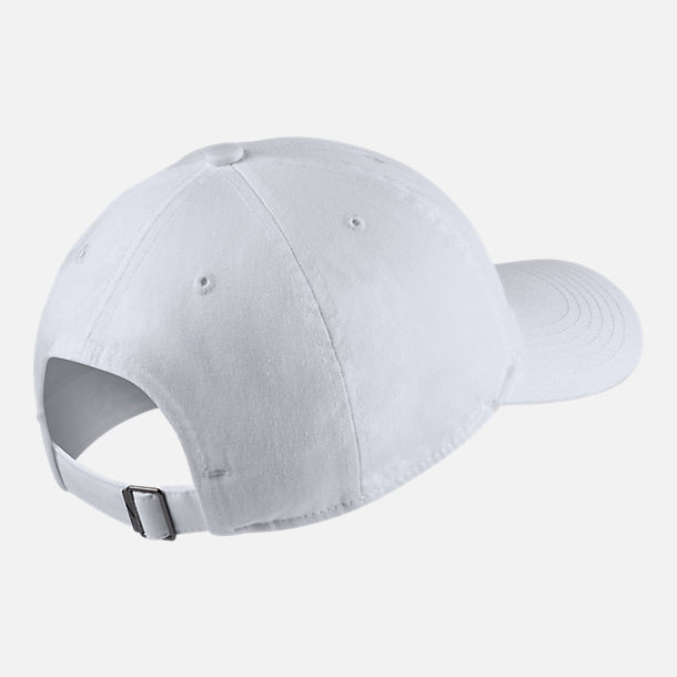 Back view of Kids' Nike Heritage86 Strapback Hat in White/Black
