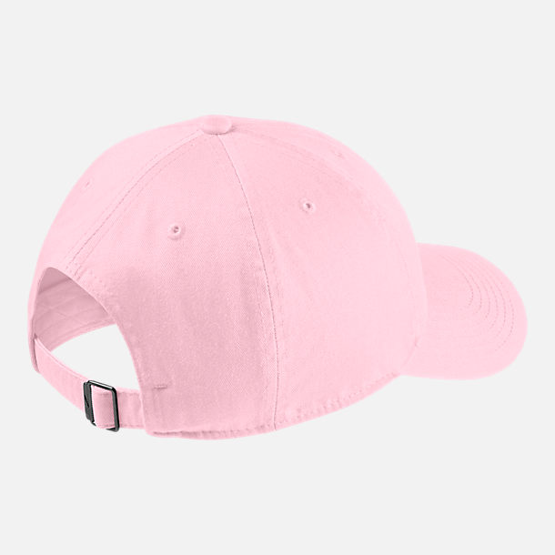 Back view of Kids' Nike Heritage86 Strapback Hat in Pink Foam/White