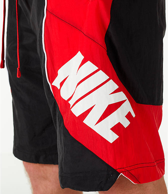 Detail 1 view of Men's Nike Throwback Basketball Shorts in Black/Red