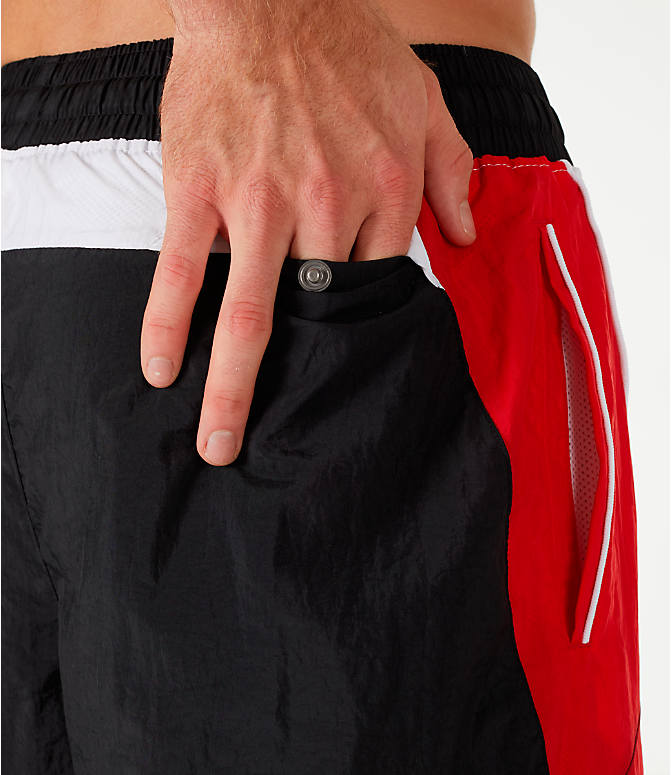 Detail 2 view of Men's Nike Throwback Basketball Shorts in Black/Red