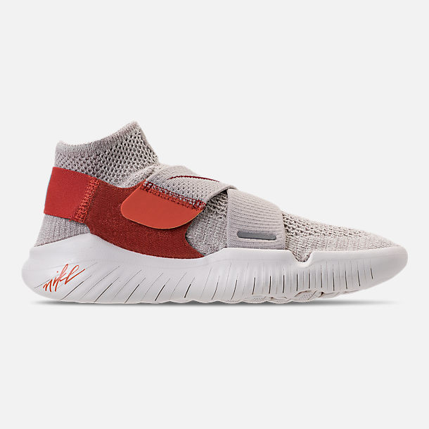 Right view of Women's Nike Free RN Motion Flyknit 2018 International Women's Day Running Shoes in Moon Particle/Sail/Team Red/Habanero