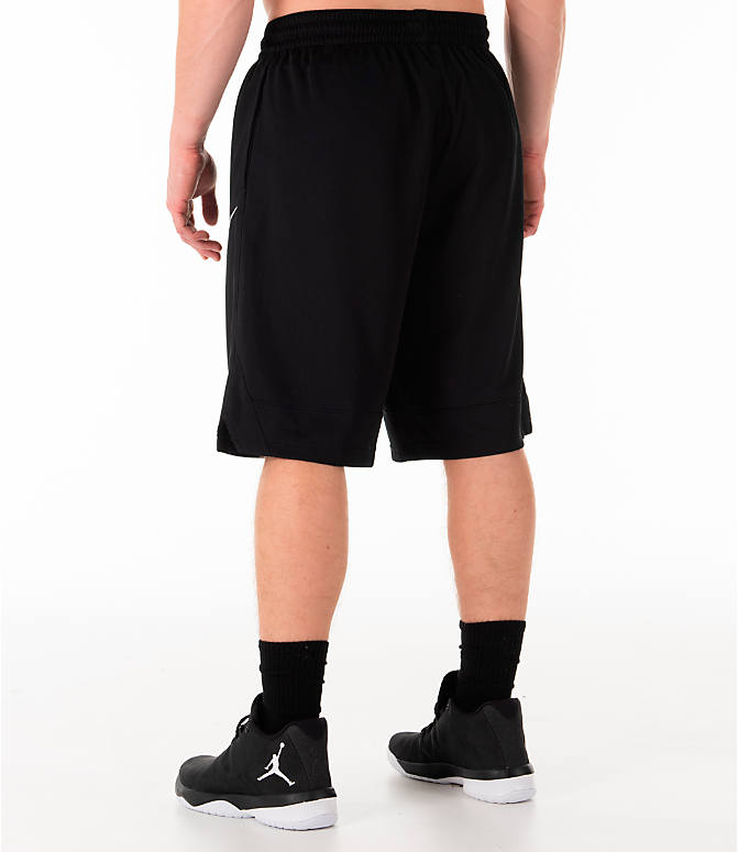 Back Left view of Men's Nike Dri-FIT Icon Basketball Shorts in Black
