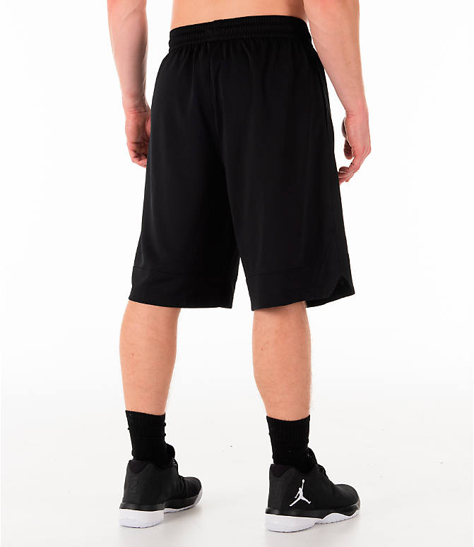 Back Right view of Men's Nike Dri-FIT Icon Basketball Shorts in Black