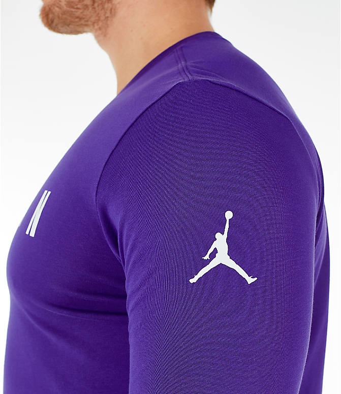Detail 1 view of Men's Air Jordan Basketball Long-Sleeve T-Shirt in Germain Blue