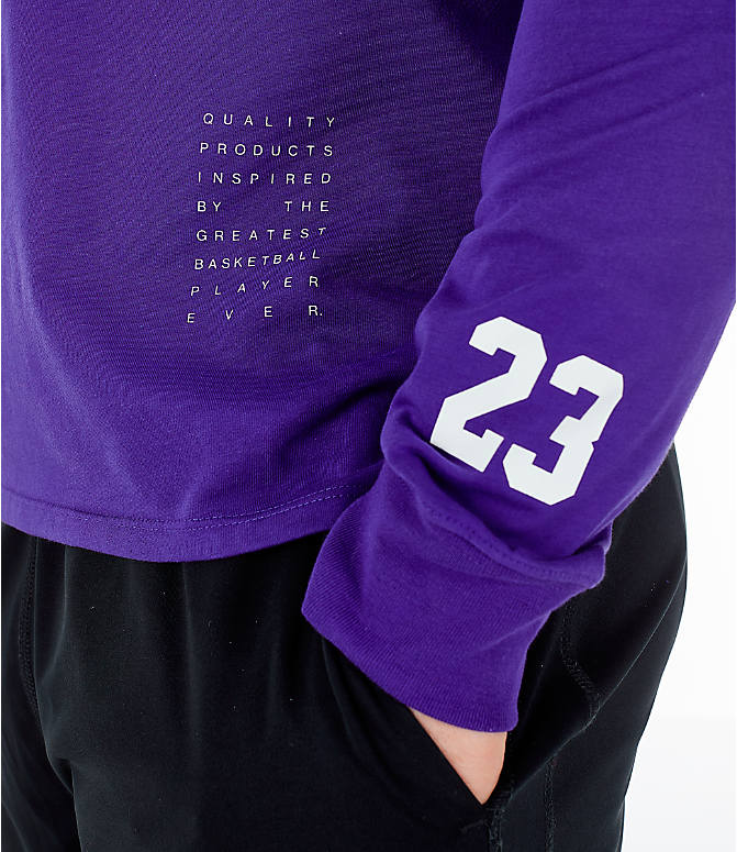 Detail 2 view of Men's Air Jordan Basketball Long-Sleeve T-Shirt in Germain Blue