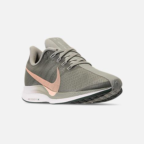 0065509e87521 Three Quarter view of Women s Nike Zoom Pegasus 35 Turbo Running Shoes in  Mica Green