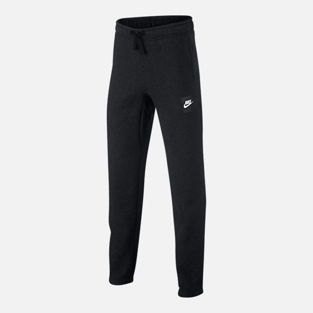 Front view of Boys' Nike Sportswear Club Jogger Pants in Black Heather