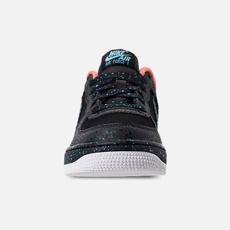 Front view of Boys' Grade School Nike Air Force 1 Pinnacle QS Casual Shoes in Black/Pulse Crimson/Pulse White