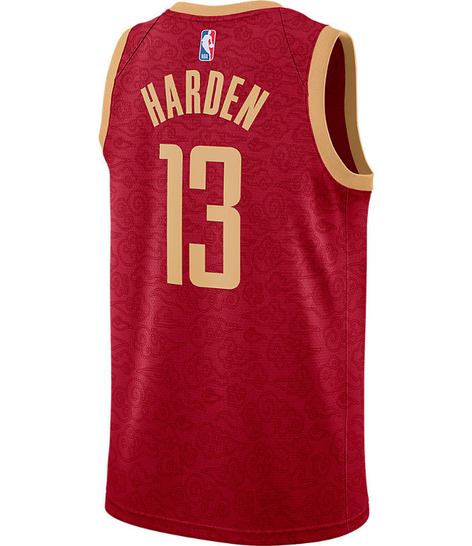 Front view of Men s Nike Houston Rockets NBA James Harden City Edition  Connected Jersey in Crimson 8a1060cac