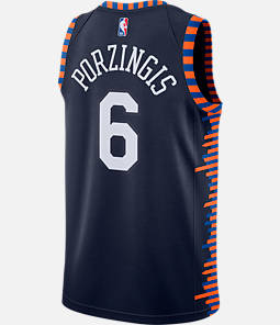 Men's Nike New York Knicks NBA Kristaps Porzingis City Edition Connected Jersey