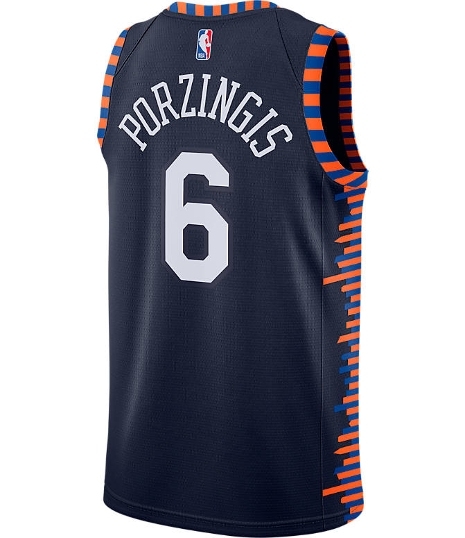 Front view of Men s Nike New York Knicks NBA Kristaps Porzingis City  Edition Connected Jersey in bffeb5889