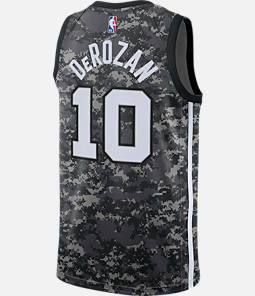 Men s Nike San Antonio Spurs NBA DeMar DeRozan City Edition Connected Jersey 82f6c60c1