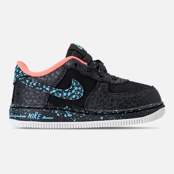 Right view of Boys' Toddler Nike Air Force 1 Pinnacle QS Casual Shoes in Black/Pulse Crimson/Pulse White