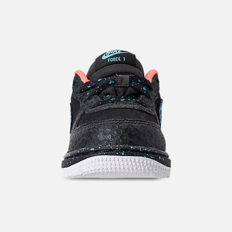 Front view of Boys' Toddler Nike Air Force 1 Pinnacle QS Casual Shoes in Black/Pulse Crimson/Pulse White