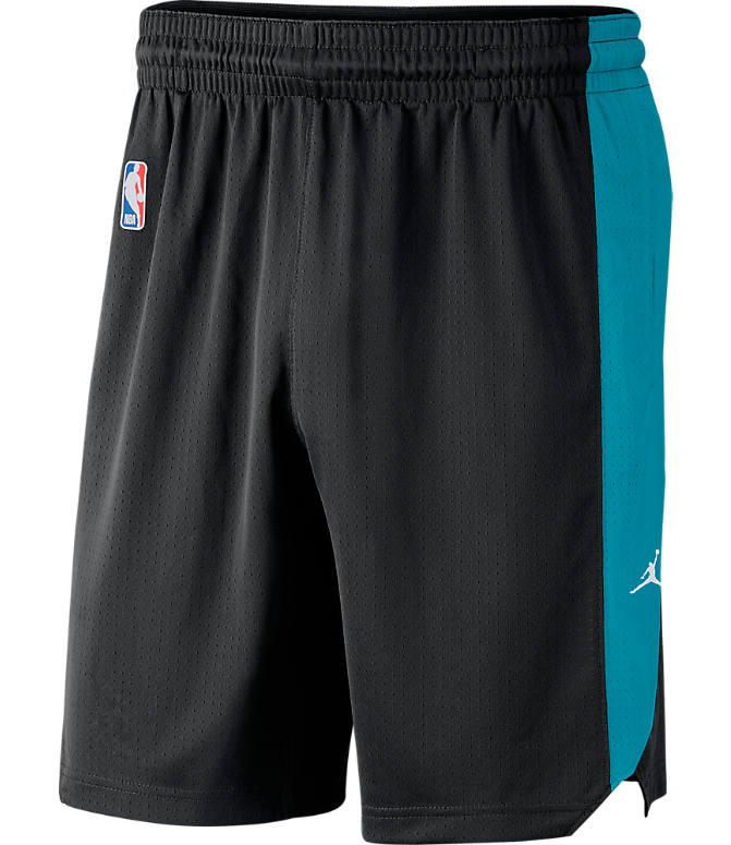 Front view of Men's Air Jordan Charlotte Hornets NBA Practice Shorts in Black