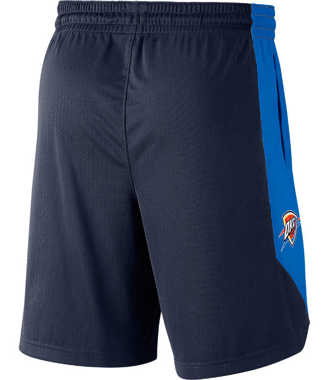 Back view of Men's Nike Oklahoma City Thunder NBA Practice Shorts in College Navy