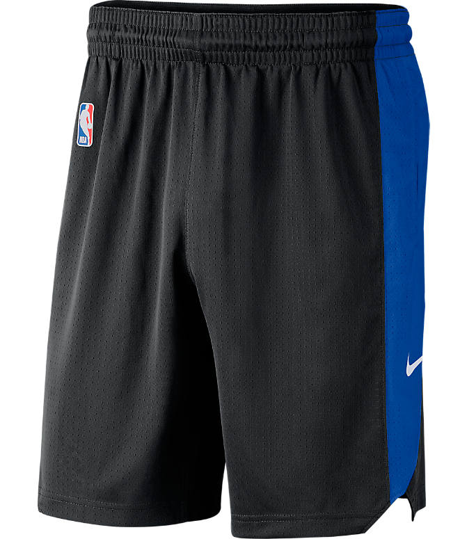 Front view of Men's Nike Orlando Magic NBA Practice Shorts in Black