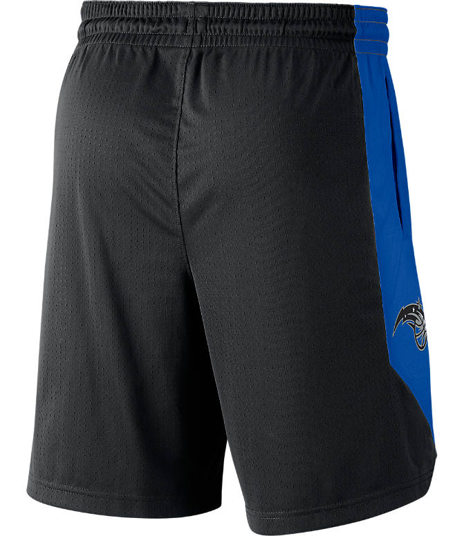 Back view of Men's Nike Orlando Magic NBA Practice Shorts in Black