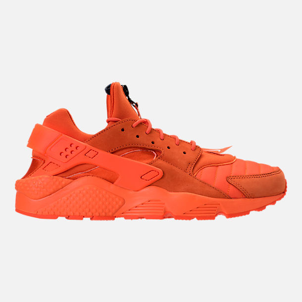 Right view of Men's Nike Air Huarache Run City Casual Shoes in Orange Blaze/Midnight Navy/White