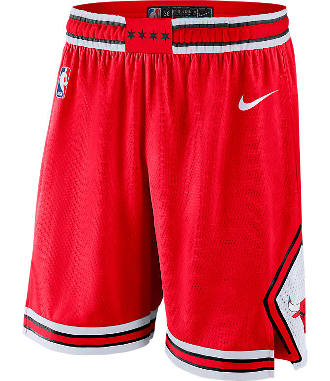 Front view of Men's Nike Chicago Bulls NBA Icon Edition Swingman Basketball Shorts in University Red