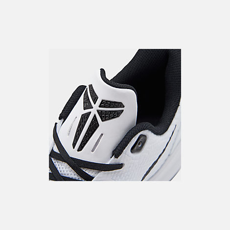 sale retailer fd84a 9482b Front view of Men s Nike Mamba Focus Basketball Shoes in White Black Gum  Light