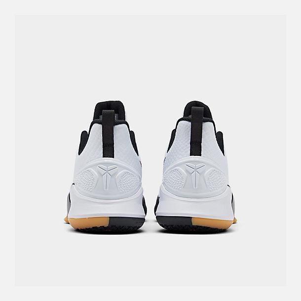 d162ef1d3f13 Left view of Men s Nike Mamba Focus Basketball Shoes in White Black Gum  Light