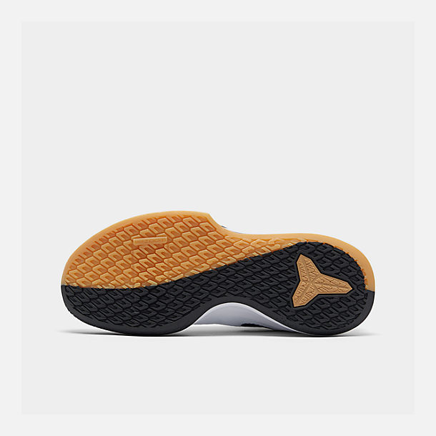 new arrival 2241d 15df2 Bottom view of Men s Nike Mamba Focus Basketball Shoes in White Black Gum  Light