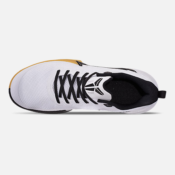 separation shoes e4cc2 b236d Top view of Men s Nike Mamba Focus Basketball Shoes in White Black Gum Light