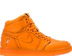 Boys' Grade School Air Jordan Retro 1 High OG G8RD Basketball Shoes