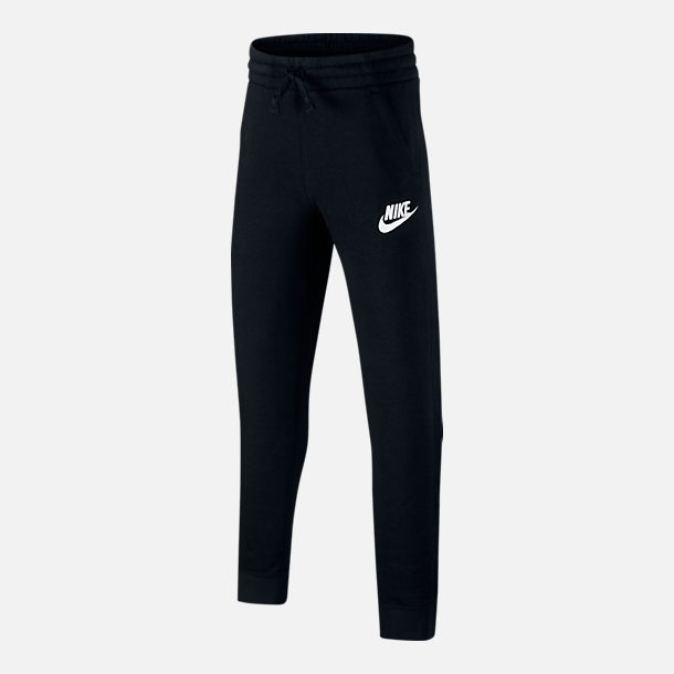 Front view of Boys' Nike Sportswear Club Jogger Pants in Black/White