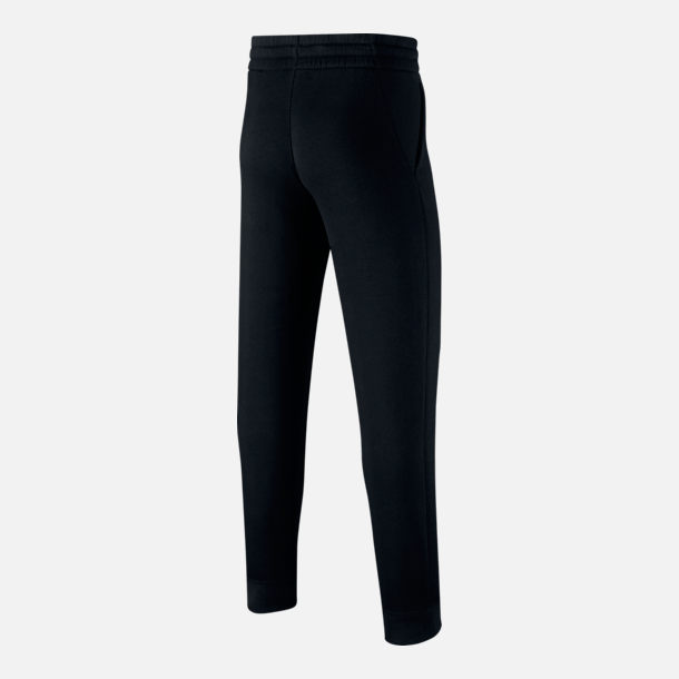 Back view of Boys' Nike Sportswear Club Jogger Pants in Black/White