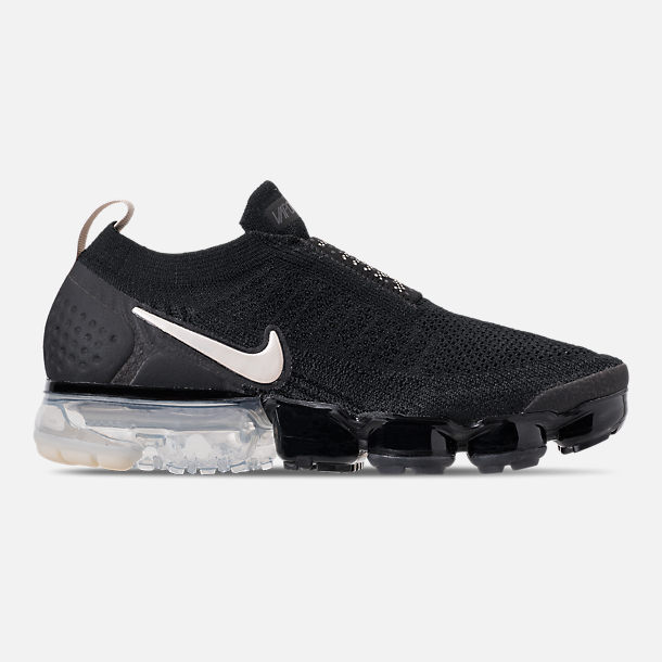 Right view of Women's Nike Air VaporMax Flyknit MOC 2 Running Shoes in Black/White/Cream/Thunder
