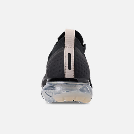 Back view of Women's Nike Air VaporMax Flyknit MOC 2 Running Shoes in Black/White/Cream/Thunder