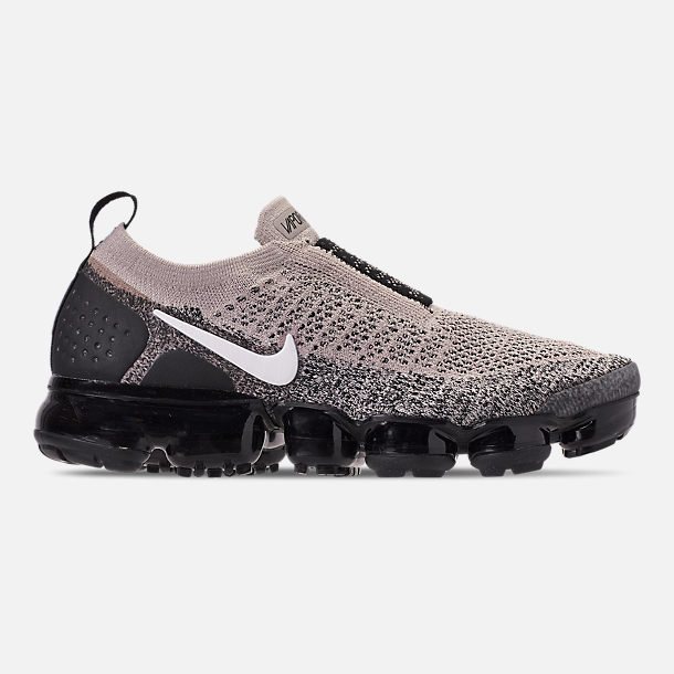 a7b22dad23 Right view of Women's Nike Air VaporMax Flyknit MOC 2 Running Shoes in Moon  Particle/