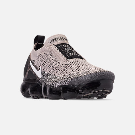 413f138760 Three Quarter view of Women's Nike Air VaporMax Flyknit MOC 2 Running Shoes  in Moon Particle