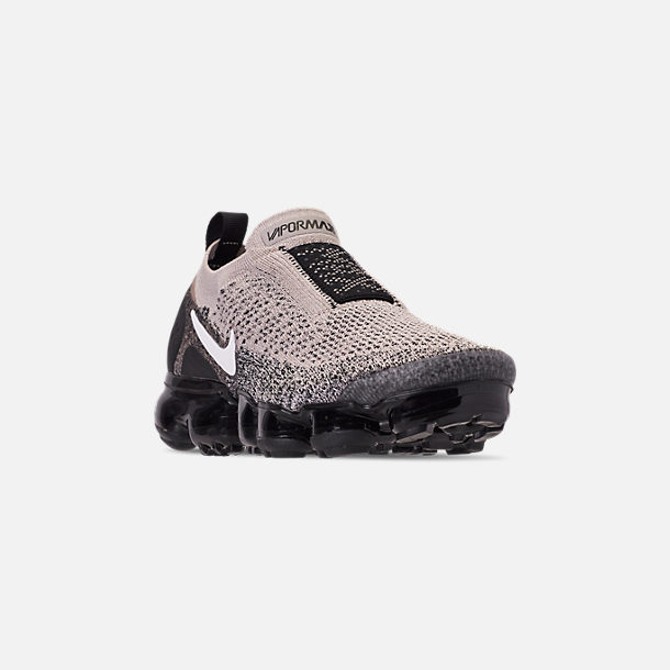 5be27cc24f2b Three Quarter view of Women s Nike Air VaporMax Flyknit MOC 2 Running Shoes  in Moon Particle