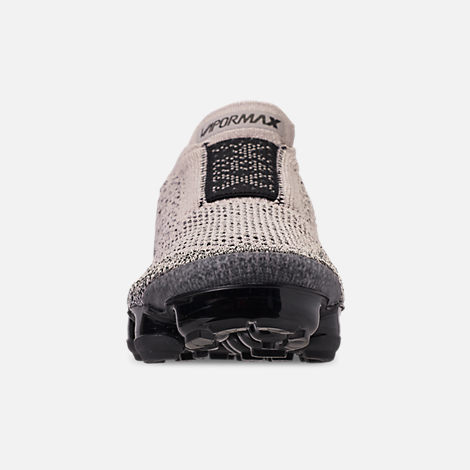 Front view of Women's Nike Air VaporMax Flyknit MOC 2 Running Shoes in Moon Particle/White/Black