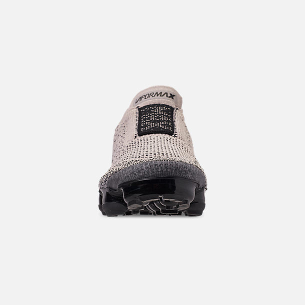 216eceeccd Front view of Women's Nike Air VaporMax Flyknit MOC 2 Running Shoes in Moon  Particle/