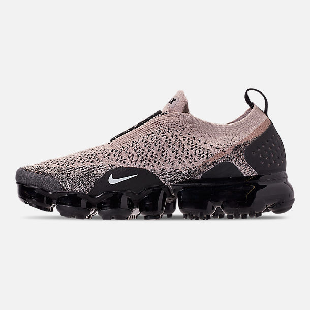 21115112bc29 Left view of Women s Nike Air VaporMax Flyknit MOC 2 Running Shoes in Moon  Particle