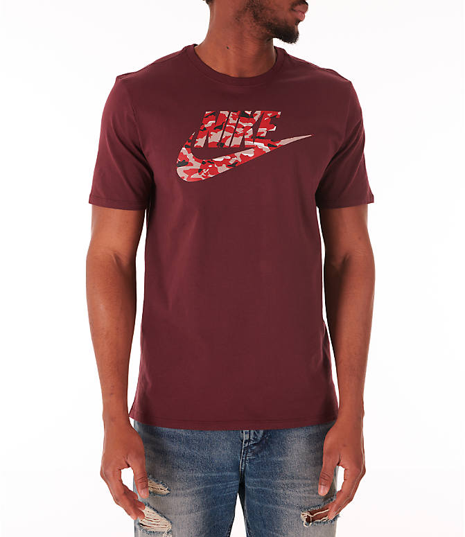 Front view of Men's Nike Sportswear Camo Futura T-Shirt