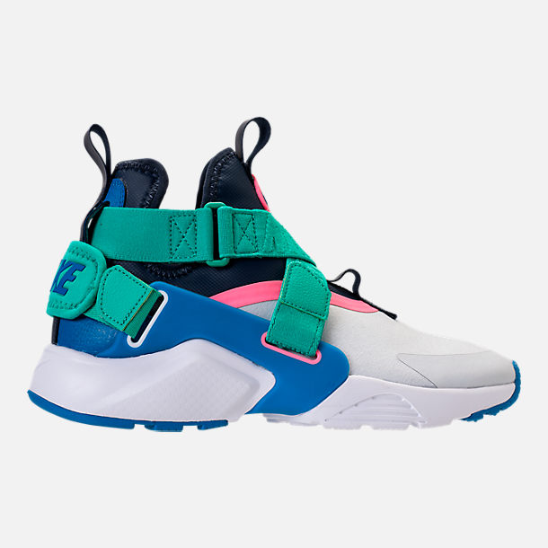 Right view of Little Kids' Nike Huarache City Casual Shoes in Pure Platinum/Blue Nebula/Obsidian