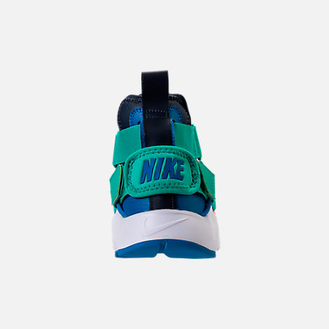 Back view of Little Kids' Nike Huarache City Casual Shoes in Pure Platinum/Blue Nebula/Obsidian