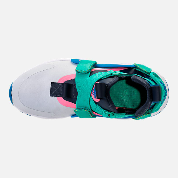 Top view of Little Kids' Nike Huarache City Casual Shoes in Pure Platinum/Blue Nebula/Obsidian