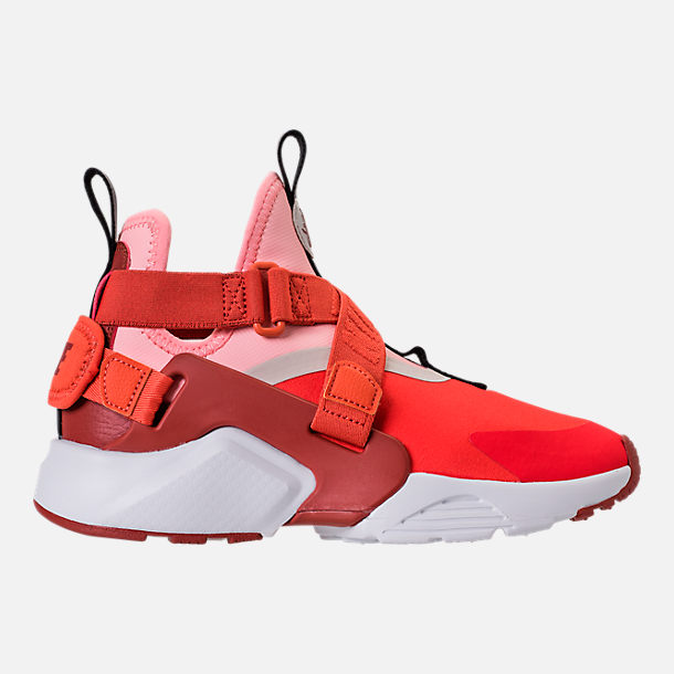 Right view of Kids' Preschool Nike Huarache City Casual Shoes in Habanero Red/Mars Stone/Bleached Coral