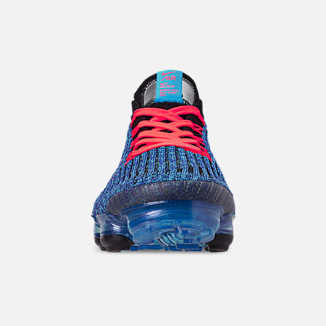 7cb0e295cba6 Front view of Men s Nike Air VaporMax Flyknit 3 Running Shoes in Blue  Fury Flash