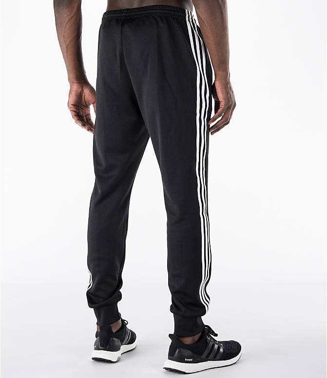 Back Right view of Men's adidas Originals SST Cuffed Jogger Pants in Black