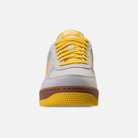 Front view of Men's Nike Air Force 1 '07 TXT Casual Shoes in Light Bone/Tour Yellow/Summit White