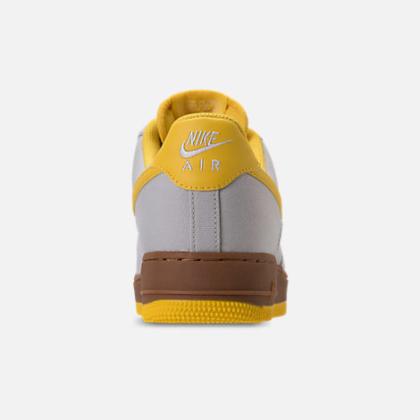 Back view of Men's Nike Air Force 1 '07 TXT Casual Shoes in Light Bone/Tour Yellow/Summit White