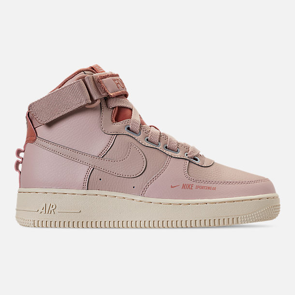 Right view of Women's Nike Air Force 1 High Utility Casual Shoes in Particle Beige/Particle Beige/Terra