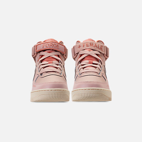 Front view of Women's Nike Air Force 1 High Utility Casual Shoes in Particle Beige/Particle Beige/Terra